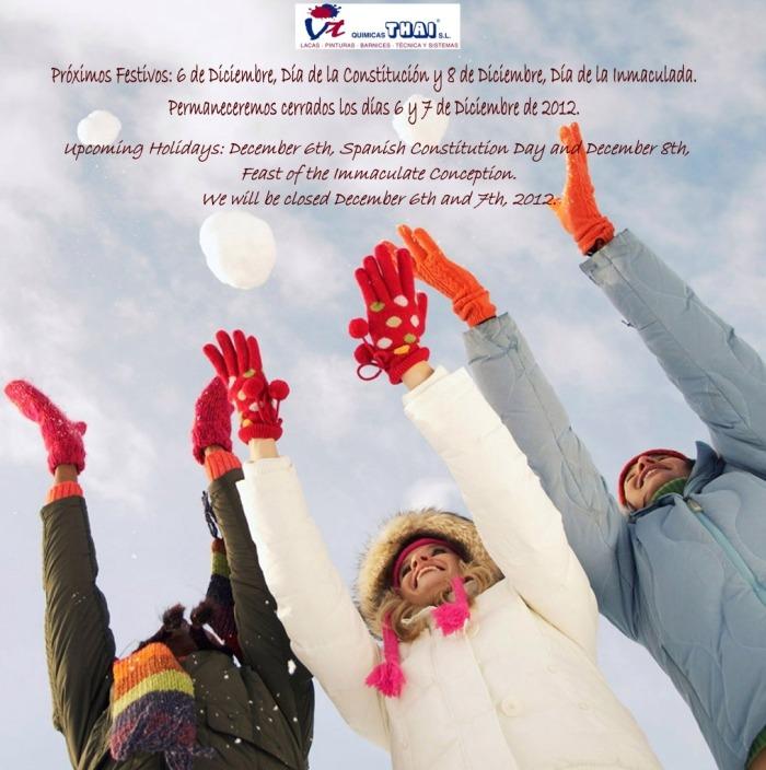 Festivos Diciembre December 2012