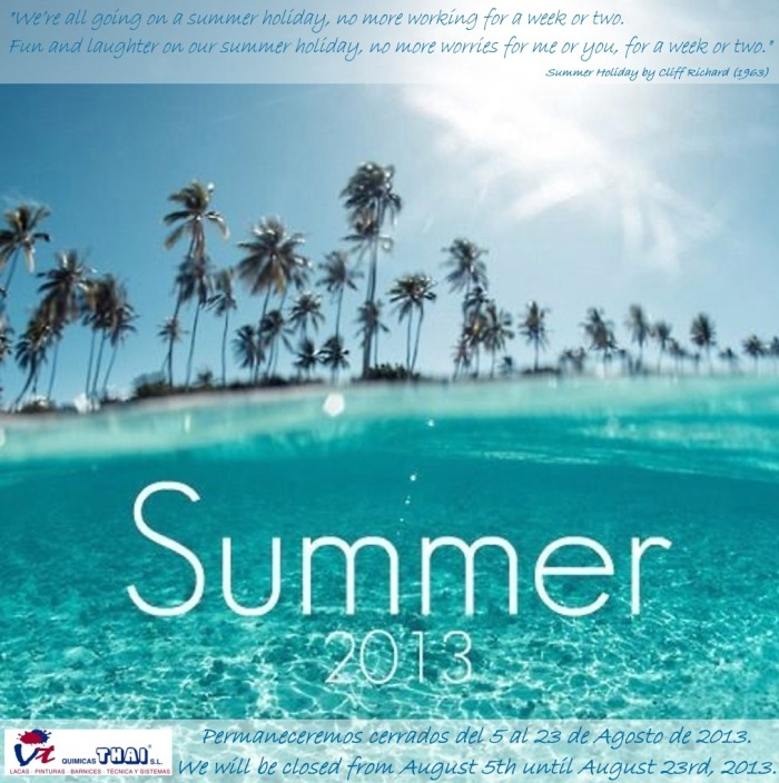 QTsl Vacaciones Verano 2013 Summer Holidays 2013