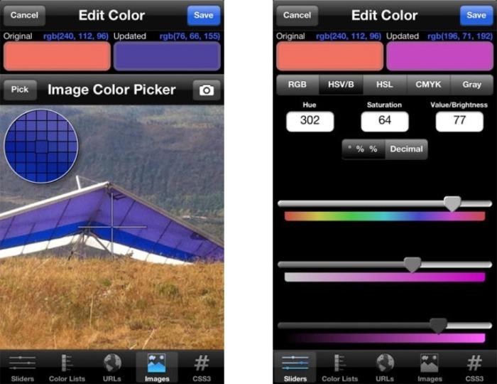 Palettes Colour App