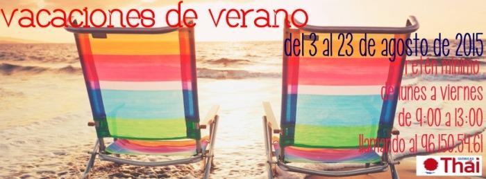 Vacaciones Verano 2015