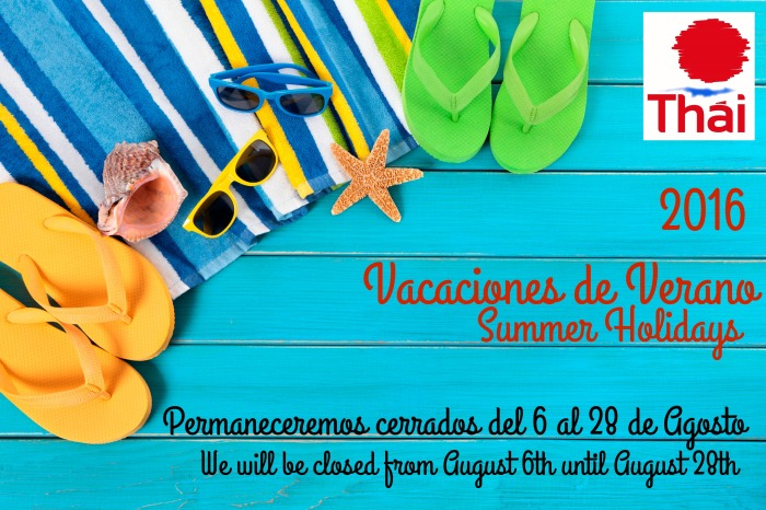 Vacaciones de Verano 2016 | Summer Holidays2016