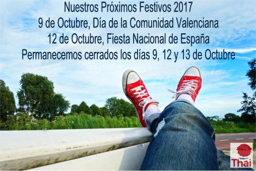 Festivos Octubre 2017 ES